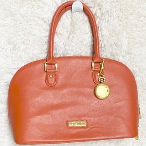 Joy & Iman Satchel Orange Handbag Purse